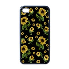 Sunflowers Pattern Apple Iphone 4 Case (black)