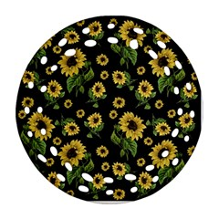 Sunflowers Pattern Ornament (round Filigree)