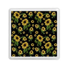 Sunflowers Pattern Memory Card Reader (square)