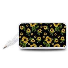 Sunflowers Pattern Portable Speaker (white)