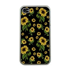 Sunflowers Pattern Apple Iphone 4 Case (clear)