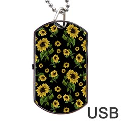 Sunflowers Pattern Dog Tag Usb Flash (one Side)