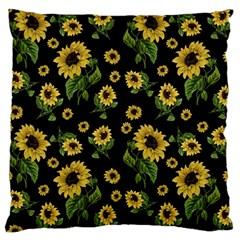 Sunflowers Pattern Large Cushion Case (one Side)