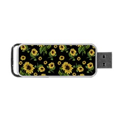 Sunflowers Pattern Portable Usb Flash (two Sides)