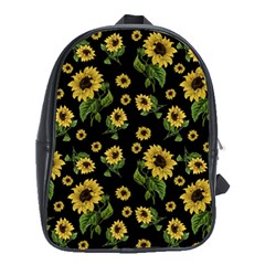 Sunflowers Pattern School Bag (xl)
