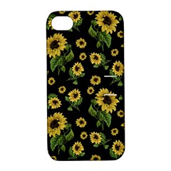 Sunflowers Pattern Apple Iphone 4/4s Hardshell Case With Stand