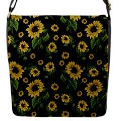 Sunflowers Pattern Flap Messenger Bag (s)