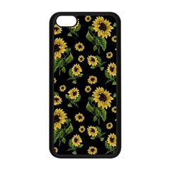 Sunflowers Pattern Apple Iphone 5c Seamless Case (black)