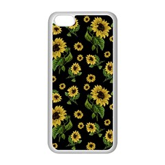 Sunflowers Pattern Apple Iphone 5c Seamless Case (white)