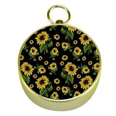 Sunflowers Pattern Gold Compasses