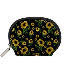 Sunflowers Pattern Accessory Pouches (small)