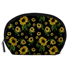 Sunflowers Pattern Accessory Pouches (large)