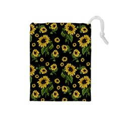 Sunflowers Pattern Drawstring Pouches (medium)