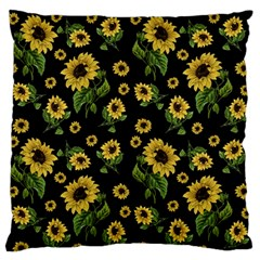Sunflowers Pattern Standard Flano Cushion Case (two Sides)