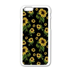 Sunflowers Pattern Apple Iphone 6/6s White Enamel Case