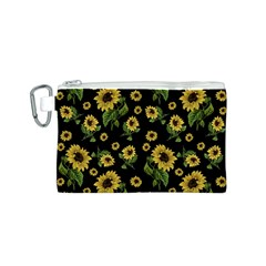 Sunflowers Pattern Canvas Cosmetic Bag (s)