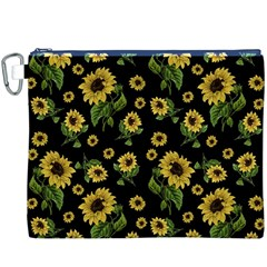 Sunflowers Pattern Canvas Cosmetic Bag (xxxl)