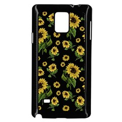 Sunflowers Pattern Samsung Galaxy Note 4 Case (black)