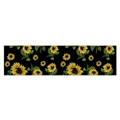 Sunflowers Pattern Satin Scarf (oblong)