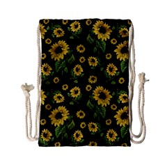Sunflowers Pattern Drawstring Bag (small)