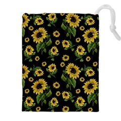 Sunflowers Pattern Drawstring Pouches (xxl)