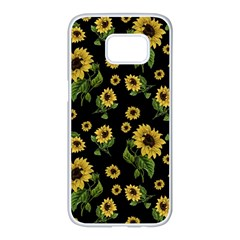 Sunflowers Pattern Samsung Galaxy S7 Edge White Seamless Case