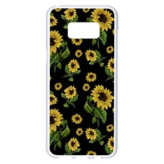 Sunflowers Pattern Samsung Galaxy S8 Plus White Seamless Case