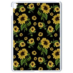 Sunflowers Pattern Apple Ipad Pro 9 7   White Seamless Case