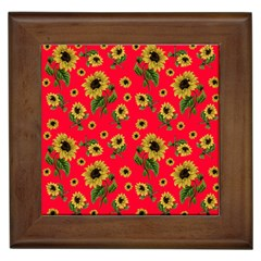 Sunflowers Pattern Framed Tiles