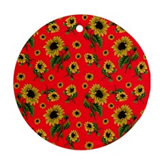 Sunflowers Pattern Ornament (round)