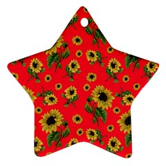 Sunflowers Pattern Ornament (star)