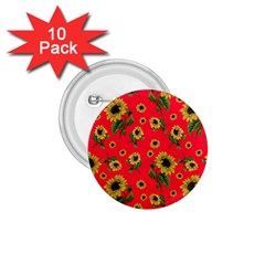 Sunflowers Pattern 1 75  Buttons (10 Pack)