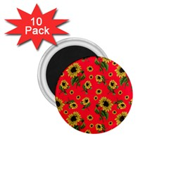 Sunflowers Pattern 1 75  Magnets (10 Pack)
