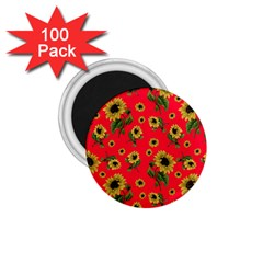 Sunflowers Pattern 1 75  Magnets (100 Pack)