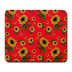 Sunflowers Pattern Large Mousepads
