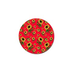 Sunflowers Pattern Golf Ball Marker