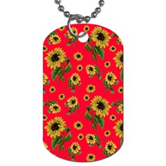 Sunflowers Pattern Dog Tag (two Sides)