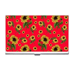 Sunflowers Pattern Business Card Holders