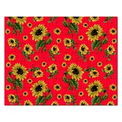 Sunflowers Pattern Rectangular Jigsaw Puzzl