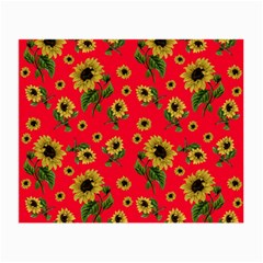 Sunflowers Pattern Small Glasses Cloth