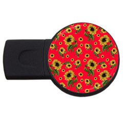 Sunflowers Pattern Usb Flash Drive Round (4 Gb)