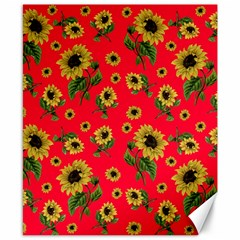 Sunflowers Pattern Canvas 8  X 10