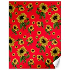 Sunflowers Pattern Canvas 12  X 16