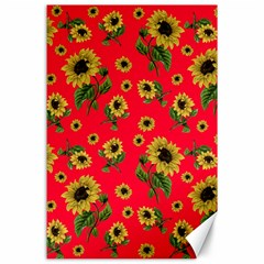 Sunflowers Pattern Canvas 24  X 36