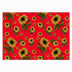 Sunflowers Pattern Large Glasses Cloth (2 Side)