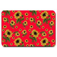 Sunflowers Pattern Large Doormat