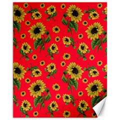 Sunflowers Pattern Canvas 11  X 14