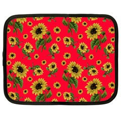 Sunflowers Pattern Netbook Case (large)