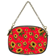 Sunflowers Pattern Chain Purses (one Side)
