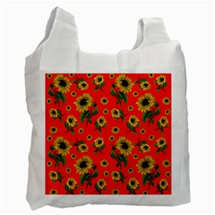 Sunflowers Pattern Recycle Bag (one Side)